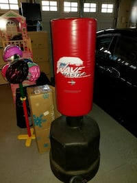Red and black Wave Master free standing heavy bag
