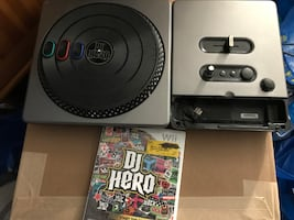 DJ Hero Wii Video Game With Turntable