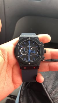 round black chronograph watch with black strap Sunnyvale, 94085