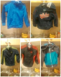 three assorted color zip-up jackets Grande Prairie, T8V 0Y2