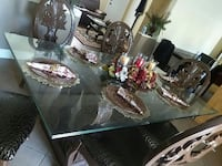 clear glass top table