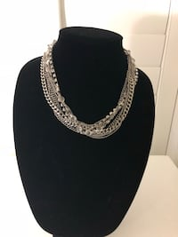 Silver and crystal multi strand chain necklace Chino Hills, 91709