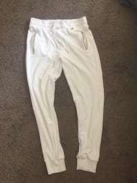 White velvet sweatpants