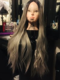 Silver Ombre Lace Front Wig High Quality Synthetic Wig Calgary, T2T 2G2