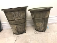 """Planters ( metal material )  18"""" tall and 16"""" tall Vaughan, L4H 2S4"""