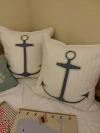 2 new down nautical anchor pillows  Miramar, 33025