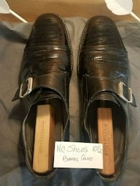 "Navarro 10.5"" Black leather shoes 769 mi"