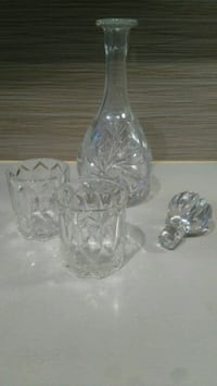 Crystal glass drink bottle