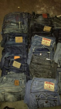 $20 a pair. All True Religions gone. About 50 pair Hamilton, L8H 6X2