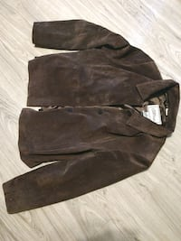 XL women's Brown Suede Leather brown jacket
