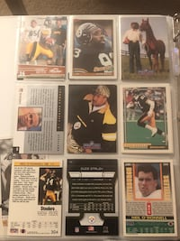 Steelers assorted football trading cards Warrenton, 20186
