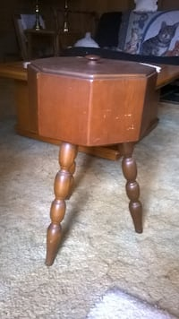 Sewing/yarn Stand with lid-1940's/50's MILWAUKEE