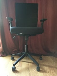 Adjustable Mesh Back Black Swivel Office Chair Olney