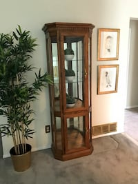 brown wooden framed glass display cabinet Toronto, M1K 2V8