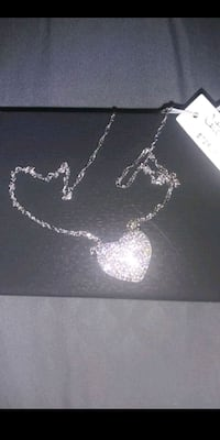 STERLING SILVER HEART PENDANT NECKLACE Long Beach