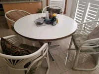 round white wooden pedestal table 538 km
