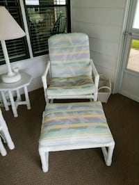 Padded PVC Patio Chair and Footrest  Winter Haven, 33884