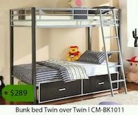 gray metal bunk bed frame Downey, 90239