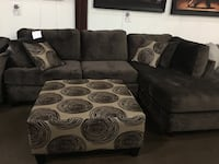 Microfiber Sectional. Brand new. Colors: Grey and brown. Ottoman $275 extra. Ottoman $550 extra Grand Prairie, 75052