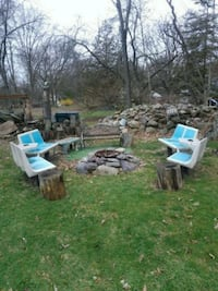 Retro bowling alley fire pit seating ensemble West Milford, 07480