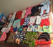 Baby's clothes and other essentials.