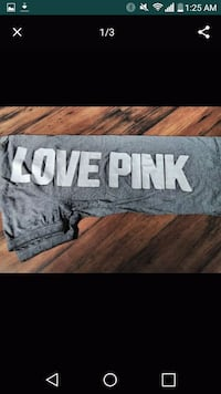 gray and white Love Pink print textile Denver, 80235