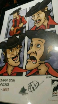 STOMPIN TOM CONNORS NUMBERED LITHOGRAPH Toronto, M9C 4P5