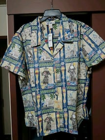REYN SPOONER MENS. SAINTS OF HI. ALOHA SHIRT XXL