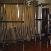 two stainless steel clothes racks Edgewood, 32809