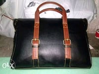 black and brown leather tote bag New Delhi, 110055