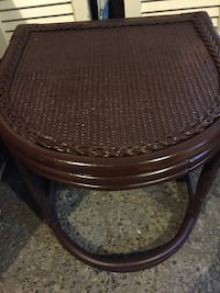 """Wicker table in great condition. Measurements are 181/2"""" tall x 19"""" wide x 19"""" deep . Geddes, 13219"""