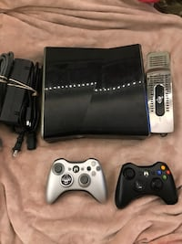 xbox 360 slim 250gb with games, controllers and cords Burnaby, V5A