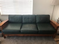 Green leather couch Westminster, 80031
