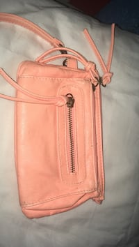 peach leather wristlet Rochester, 14615