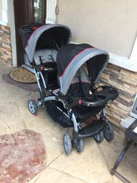 baby's black and gray stroller Plano, 75074