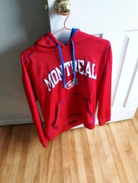 red and white Adidas pullover hoodie Dartmouth, B2W 1E5