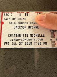 4 reserved tickets for Jackson Brown Kirkland, 98034