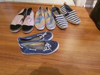 four pairs of flat shoes