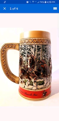Budweiser stein collectible