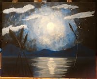 Moonlit Marsh Painting Toronto