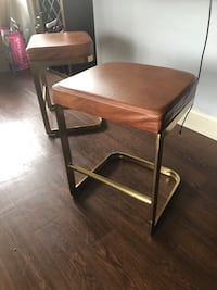 "Leather Bar 24"" Counter Stool $150 Each Two Stool Washington, 20024"