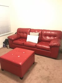 red leather tufted sectional sofa Nashville, 37013