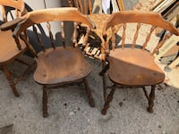 two brown wooden windsor chairs Cathedral City, 92234