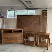 Queen Bedroom Set - Wood design PASADENA