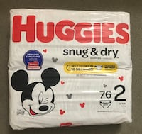 Huggies Snug and Dry Baby Diapers, Size 2, 76 ct