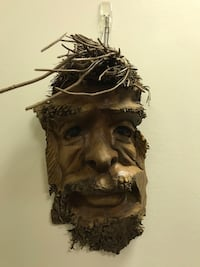 Hand Carved Palm Tree Root Face Wall Hanging from Hawai'i Nashua, 03060