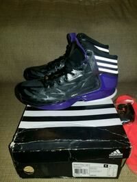 pair of black-and-purple Adidas sneakers Upper Marlboro, 20772