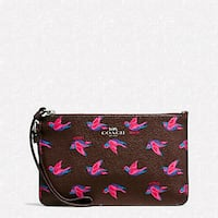 Coach SMALL WRISTLET IN HAPPY BIRD PRINT CANVAS Gaylord, 49735