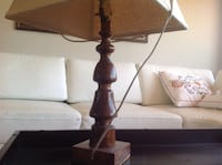 set of two wooden lamps Hamilton, L9H 6W4