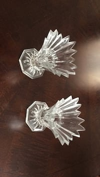 Crystal candle holder 10$ for both. Looks nice Brampton, L7A 4M8